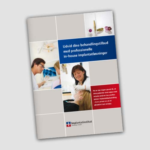 A4 folder for Implantatinstitut Slesvig-Holsten.