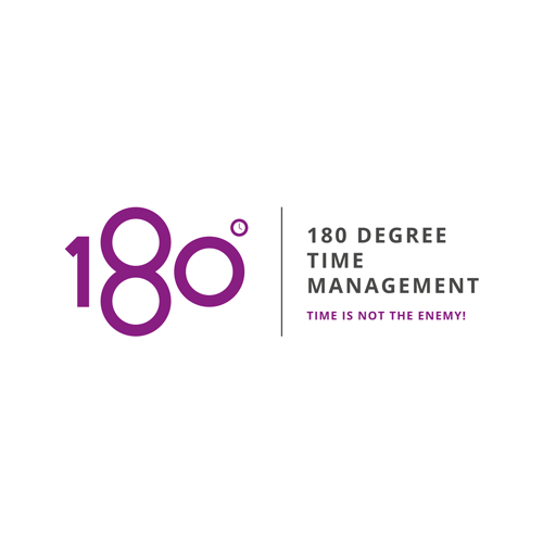 Logodesign for 180 degree Time Management.